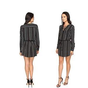 PAIGE Mirren Dress (Black/White) Women's Dress M